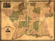 New Haven County 1852 Wall Map 44x58