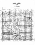 Index Map, Cedar County 1996 - 1997