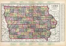 Iowa State Map, Clayton County 1914