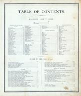 Table of Contents, Macoupin County 1875