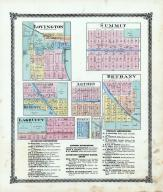 Lovington, Summit, Arther, Bethany, Dalton City, Lake City, Cushman, Cole, Moultrie County 1875