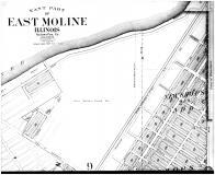 East Moline - East - Above, Rock Island County 1905 Microfilm and Orig Mix