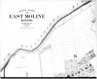 East Moline - West - Above, Rock Island County 1905 Microfilm and Orig Mix