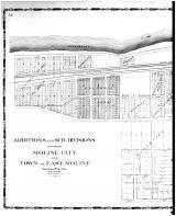 Moline City and East Moline - Additions and Sub-Divisions - Left, Rock Island County 1905 Microfilm and Orig Mix