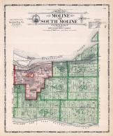 Moline and South Moline Townships, Rock Island County 1905 Microfilm and Orig Mix