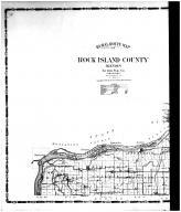 Rural Route Map - Left, Rock Island County 1905 Microfilm and Orig Mix