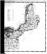 Rural Route Map - Right, Rock Island County 1905 Microfilm and Orig Mix