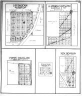 Hudgens, Sterns Outlots, Popes Highland, Canaville, New Dennison, Williamson County 1908