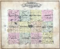 Williamson County Outline Map, Williamson County 1908