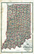 Indiana State Sectional and Township Map, Montgomery County 1878
