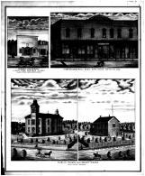 Parmely and Murray, Commerical Block, Burlington Public School and Court House, Coffey County 1878