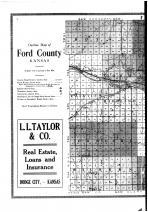 Ford County Outline Map - Left, Ford County 1916