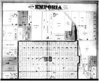 Emporia City - Above, Lyon County 1878