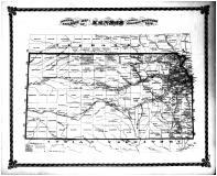 Kansas State Map, Lyon County 1878