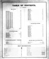 Table of Contents, Lyon County 1878