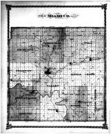 Miami County Map, Miami County 1878