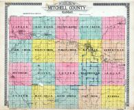 Mitchell County Outline Map, Mitchell County 1917