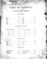 Table of Contents, Ottawa County 1902