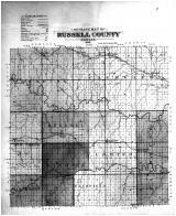 Russell County Outline Map, Russell County 1901