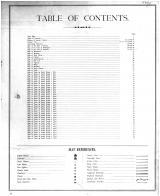 Table of Contents, Sumner County 1883