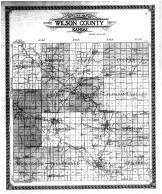 Wilson County Outline Map, Wilson County 1910
