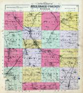 Hillsdale County Outline Map, Hillsdale County 1894