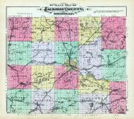 Jackson County Outline Map, Jackson County 1894