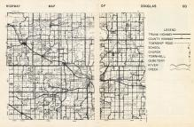 Douglas County Map, Douglas County 1958