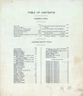 Table of Contents, Jackson County 1914
