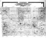 Norman County Outline Map, Norman County 1910