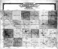 Norman County Outline Map with Elevations, Norman County 1910