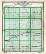 Rock County Outline Map, Rock County 1935