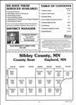 Table of Contents, Sibley County 2001