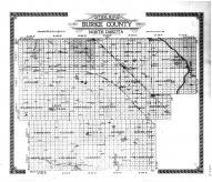 Burke County Outline Map, Burke County 1914