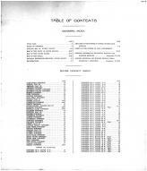 Table of Contents, Divide County 1915