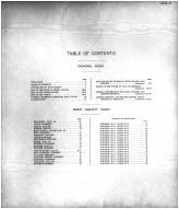 Table of Contents, Eddy County 1910