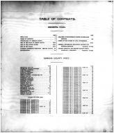Table of Contents, Emmons County 1916 Microfilm
