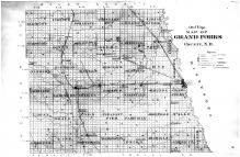 Grand Forks County Outline Map, Grand Forks County 1893