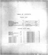 Table of Contents, McIntosh County 1911