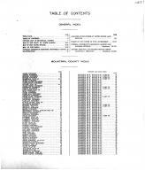 Table of Contents, Mountrail County 1917