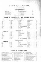 Table of Contents, Pembina County 1893