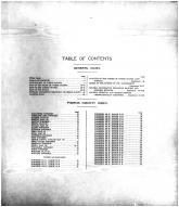 Table of Contents, Pierce County 1910 Published by Ogle