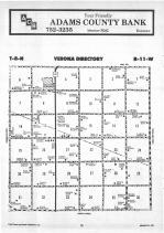 Verona T8N-R11W, Adams County 1987 Published by Farm and Home Publishers, LTD