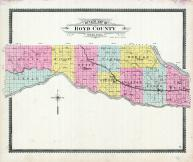 County Outline Map, Boyd County 1904