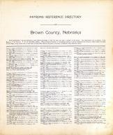 Directory 1, Brown County 1912