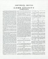 Historical Sketch of Cass County 1, Cass County 1905