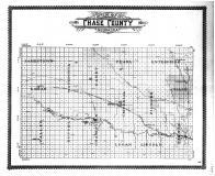 Chase County Outline Map, Chase County 1908