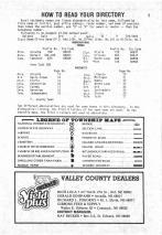 Index and Legend, Valley County 1981