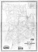 Essex County and Newark 1850 Wall Map 36x48