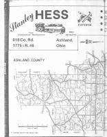 Index Map left, Ashland County 1980